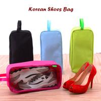 Korean Shoes Bag (Tas sepatu atau sandal travel, mudah dibawa)