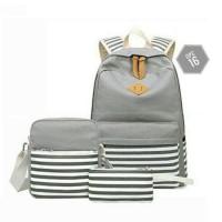 Tas Wanita Terbaru / Tas Import / Tas Batam backpack set 3 in 1 salur
