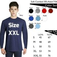 JUAL Kaos Polos Lengan Panjang Size XXL Combed 30s MURAH