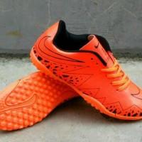 BEST PRO Sepatu Futsal Nike Anak Kids full orange sepatu Kets Casual