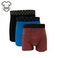 Boxer pria jumbo LGS 677 isi 3 - celana dalam boxer big size