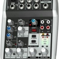 Behringer XENYX Q502USB - 5 Input 2 Bus Mixer + USB Audio Interface