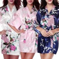 Kimoni baju tidur IMPORT bahan sutra kimono lingerie