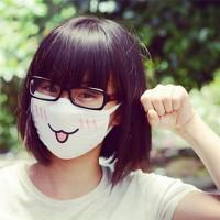 Masker Cute Anime Emoticon Face Mask Kawaii Emoji Anti-Debu / Motor