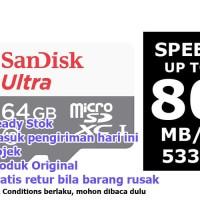 Sandisk Ultra micro sd 64GB class 10 80MBps microsd microsdxc UHS-I