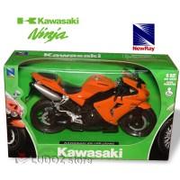 KAWASAKI Ninja ZX-10R ORANGE Diecast 2006 NewRay Miniatur Die Cast
