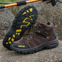 Sepatu Gunung SNTA 482 Olahraga Outdoor- Hiking Brown Yellow