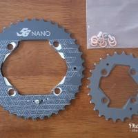 CS Chainring Oval DOVAL 40 26 5G Nano BCD 104 64 untuk MTB Crank Shim