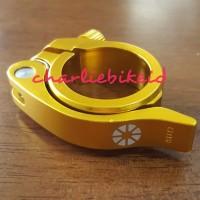 CS Seatpost Clamp Seatclamp DAHON TERN 40mm GOLD Quick Release