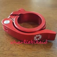 CS Seatpost Clamp Seatclamp DAHON TERN 40mm RED Merah Quick Release
