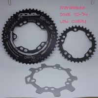 CS Chainring Oval DOVAL 5G Nano 50 34 Low Ovality BCD110mm