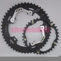 CS Chainring Oval DOVAL MicroGT 50 36 BCD130 untuk Crank Race
