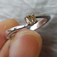 C116 Cincin perak wanita natural diamond intan berlian banjar murah