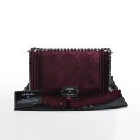 Tas Wanita Tas Chanel Boy Velvet Tas Cewek Import Branded Replika