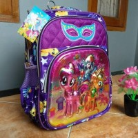 Tas anak ransel alto 5 dimensi princess & little pony