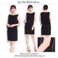 Black Dress Gaun Pesta wanita Baju Rok terusan hitam branded original