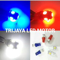 SEPASANG Lampu LED T10 Sein Senja Jagung 5 Mata Motor Mobil