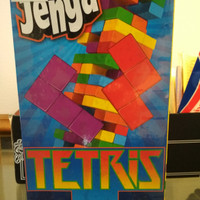 Jenga tetris board game mainan edukasi uno style tetris tumbling tower