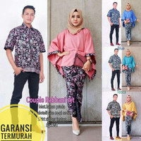baju batik kembar pesta couple set rabbani kekinian