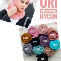 Jilbab Hijab Segiempat PolyCotton Ori, Bella Square Bukan Double Hycon