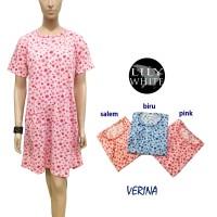 VERINA  Daster Pendek / Pakaian Tidur / Baju Tidur LILY WHITE.