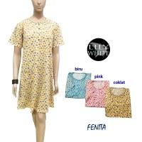 FENITA Daster Pendek / Pakaian Tidur / Baju Tidur LILY WHITE.