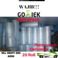 PEMBUNGKUS PAKING BUBBLE WRAP PLASTIK WRAPING 1,25m x 50m. MURAHH