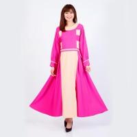 Baju Muslim Wanita Terbaru Jfashion Premium Gamis Kombinasi tangan