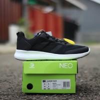 Harga sepatu cowok keren original adidas cloudfoam race white black | Pembandingharga.com