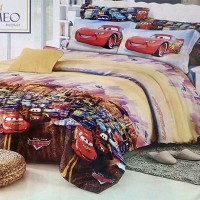 Bedcover Romeo ukuran 120 x 200 / Extra Single / No.3 - Cars