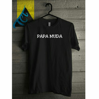 kaos papa muda glow in the dark