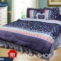 Sprei CALIFORNIA Bantal 4 KING 180 x 200 MURAH Motif ANETA