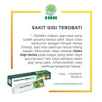 PASTA GIGI HERBAL HNI-HPAI/GIGI SENSITIF, NGILU