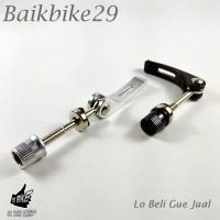 Seatclamp Jok Sadel Sepeda Jadul BMX Dll Model QR Silver Dan Hitam