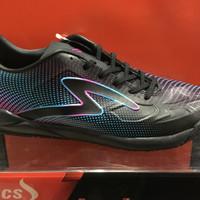promo sepatu futsal specs swervo thunder bolt warna hitam ultra violet