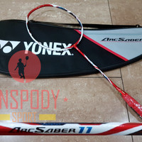 RAKET YONEX ARC SABER 11 METALIC RED ORI JAPAN