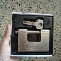 gembok stainless finn 84mm germany 5 anak kunci