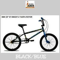 SEPEDA BMX EXOTIC 9983XT-2 HITAM/BIRU 20 INCI FREESTYLE TERBARU