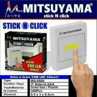 Lampu emergency Mitsuyama Stick N Click MS-8508 Cob Led 10watt