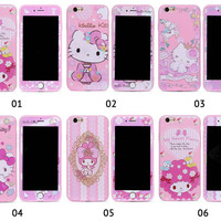 SOFTCASE / SARUNG HP OPPO F5 HELLOKITTY/CARTOON + TEMPER GLASS.
