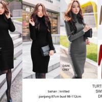 Terlaris Turtleneck Sweater Dress Termurah