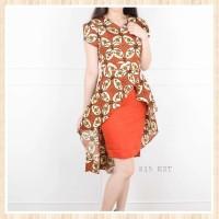 Batik Fashion Wanita  Kristy wide tail dress