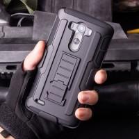 LG G4 Stylus / Stylo Future Hybrid Armor Case Stand Belt Clip Holster