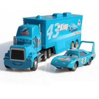 Diecast Mobil Mainan, Cars The King Weathers No.43 dan Hauler Dinoco