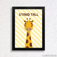 Jual Poster Jerapah Lucu / Quote Stand Tall / Hiasan Dinding Inspiratif Murah
