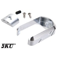 5KU Aluminium Magwell Tokyo Marui WE G17 G18C GBB Silver