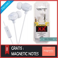 JVC HA-FR201 IEM Earphone White Original - Gratis Magnetic Notes
