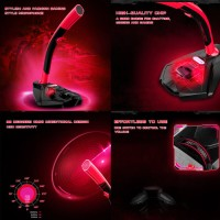 Mikrofon USB u/ Laptop PC Desktop - Gamer - Merah - Millenium Edition