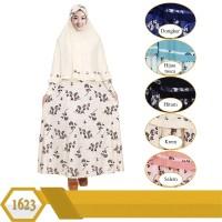gamis syari jumbo jersey motif bunga gamis set jilbab 5L
