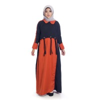 Long Dress Atasan Muslim Wanita ZAINA DRESS BLACK Model Terbaru